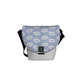 Alice Blue White Kisses in English Country Garden Courier Bag
