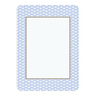 Alice Blue White Kisses in English Country Garden 4.5x6.25 Paper Invitation Card