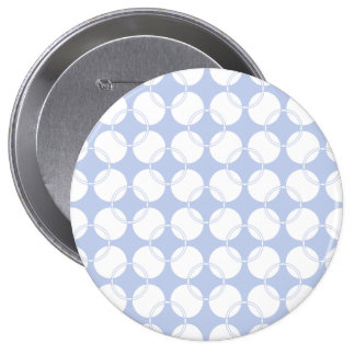 Alice Blue Wimbledon in an English Country Garden 4 Inch Round Button