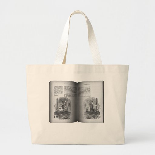 Alice Book on Chest Jumbo Tote Bag