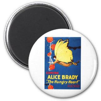 Alice  Brady A The Hungry Heart 1917 Fridge Magnet