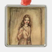 Alice by Arthur Rackham Metal Ornament