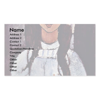 Alice By Modigliani Amedeo Double-Sided Standard Business Cards (Pack Of 100)