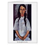 Alice By Modigliani Amedeo Cards