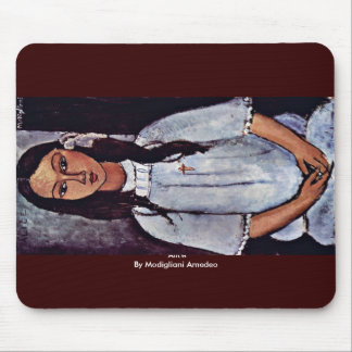 Alice By Modigliani Amedeo Mouse Pads