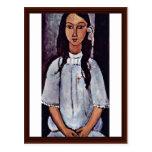 Alice By Modigliani Amedeo Post Cards
