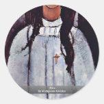Alice By Modigliani Amedeo Stickers