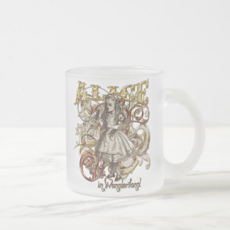 Alice Carnivale Style (Gold Version) Frosted Glass Coffee Mug
