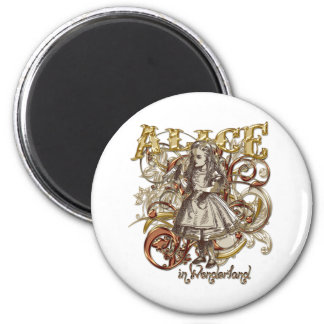 Alice Carnivale Style (Gold Version) Magnets