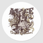 Alice Carnivale Style Round Stickers