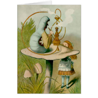 Alice - Caterpiller With Hooka - Note Card