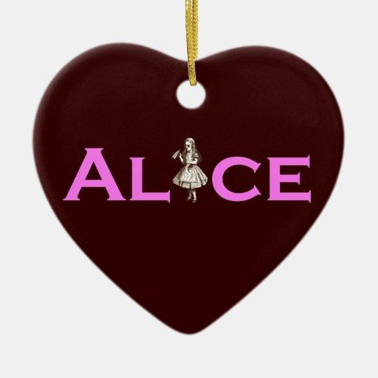 Alice Ceramic Ornament