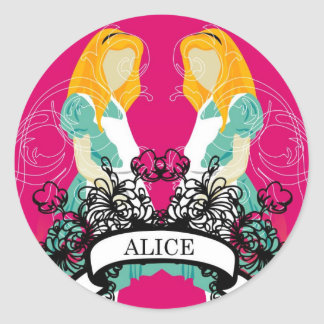 alice classic round sticker