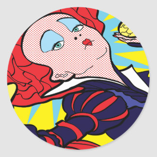 Alice collection red Queen Classic Round Sticker