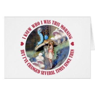 Alice Confides in the Caterpillar Cards