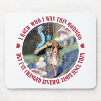Alice Confides in the Caterpillar Mouse Pad