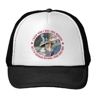 Alice Confides in the Caterpillar Trucker Hat