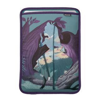 Alice Daisy Field Silhouette in Tulgey Woods MacBook Sleeve