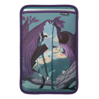 Alice Daisy Field Silhouette in Tulgey Woods Sleeves For MacBook Air