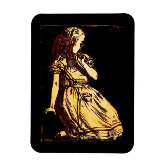 Alice Daydreaming Rectangular Photo Magnet