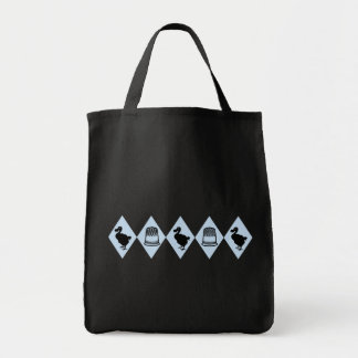 Alice Dodo and Thimble Pattern Tote Bag