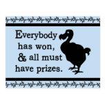Alice Dodo Everybody Has Won Postcard