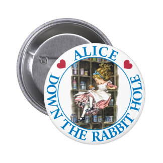 ALICE DOWN THE RABBIT HOLE 2 INCH ROUND BUTTON
