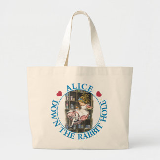 ALICE DOWN THE RABBIT HOLE LARGE TOTE BAG