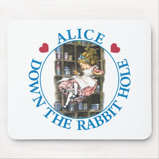 ALICE DOWN THE RABBIT HOLE MOUSE PAD