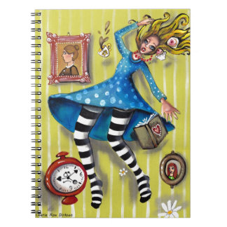 Alice Down the Rabbit Hole Notebook
