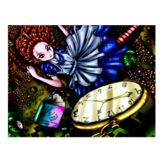 Alice Down the Rabbit Hole Postcard