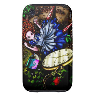 Alice Down the Rabbit Hole Tough iPhone 3 Case