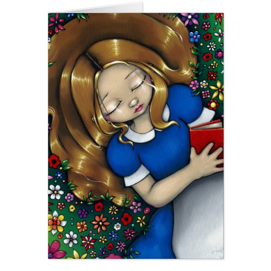 """Alice Dreaming"" Greeting Card"