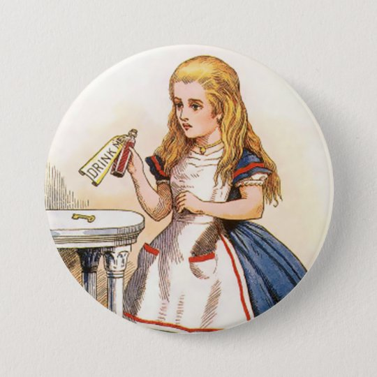 """Alice-Drink-Me - 3"""" Button"""