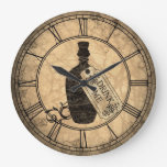 Alice Drink Me Bottle Round Clock