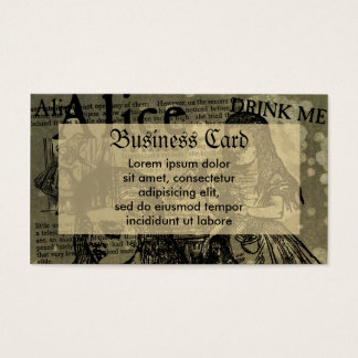 Alice Drink Me Collage Business Card