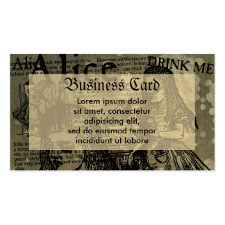 Alice Drink Me Collage Double-Sided Standard Business Cards (Pack Of 100)