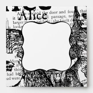 Alice Drink Me Collage Envelopes