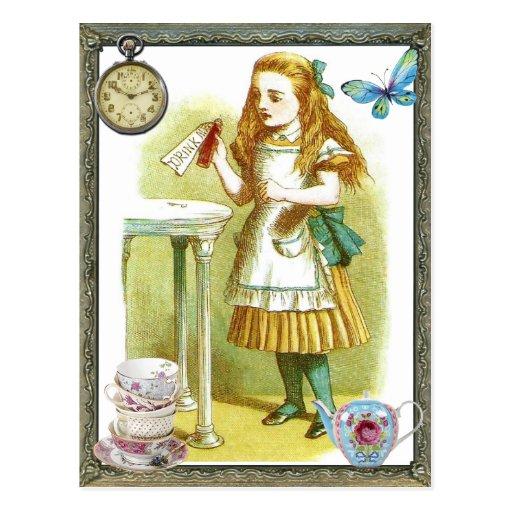 Alice - Drink Me Wens Kaarten