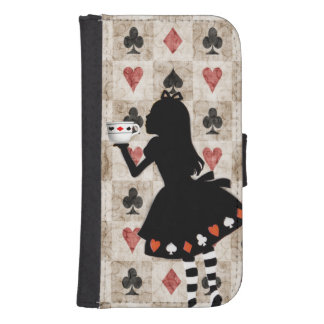 Alice Drinking Tea Wallet Phone Case For Samsung Galaxy S4