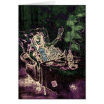Alice Drinks Absinthe Now (negative) Greeting Card
