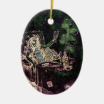 Alice Drinks Absinthe Now Ornament