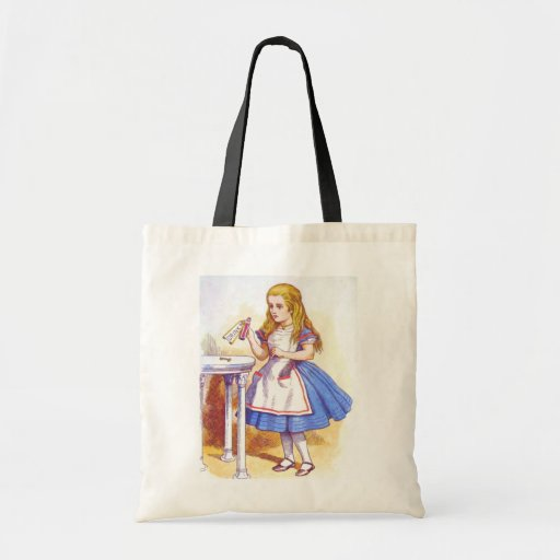 Alice Drinks Color Budget Tote Bag