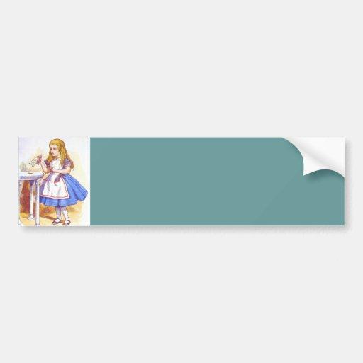 Alice Drinks Color Bumper Sticker