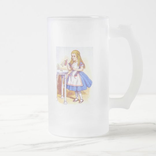 Alice Drinks Color Frosted Glass Beer Mug