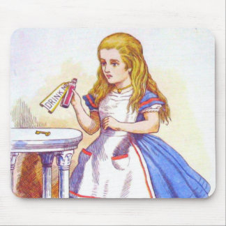 Alice Drinks Color Mouse Pad