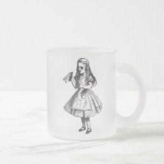 Alice Drinks Frosted Glass Coffee Mug
