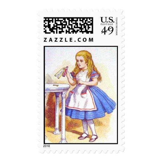 Alice Drinks in Full Color Postage