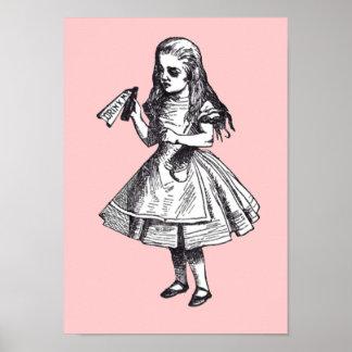 Alice Drinks Print