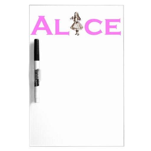 Alice Drinks Word Play Pink Dry Erase Board